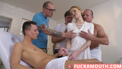 nurse gets unexpected gangbang